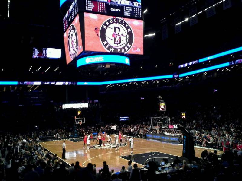 Seat view from Section 19 at the Barclays Center, home of the Brooklyn Nets