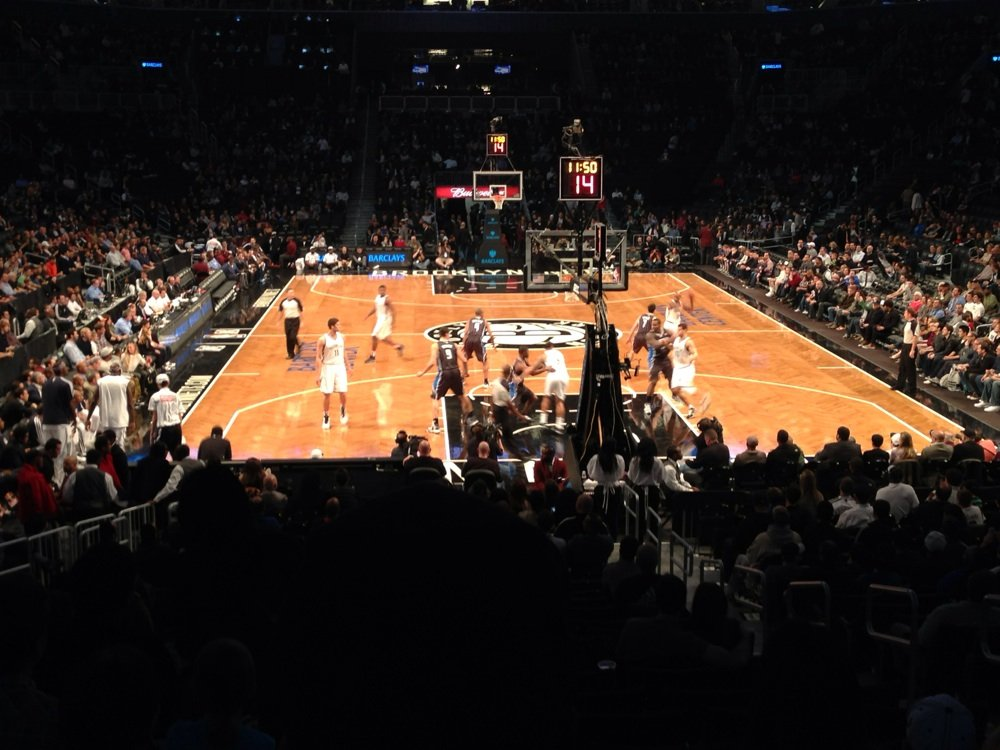 Seat view from Section 1 at the Barclays Center, home of the Brooklyn Nets