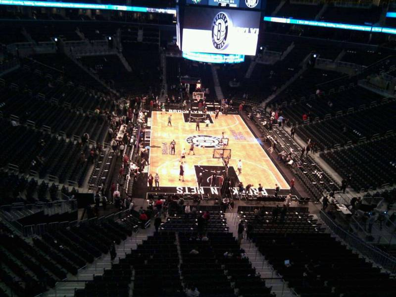 Seat view from Section 201 at the Barclays Center, home of the Brooklyn Nets
