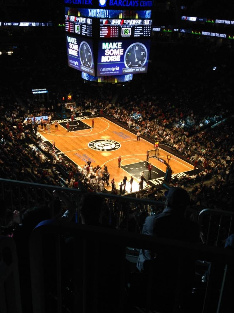 Seat view from Section 203 at the Barclays Center, home of the Brooklyn Nets