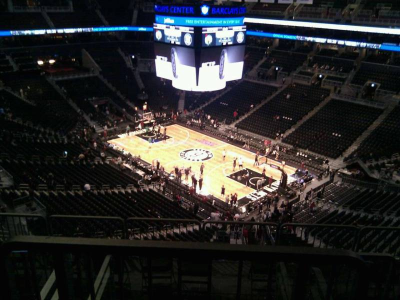 Seat view from Section 204 at the Barclays Center, home of the Brooklyn Nets