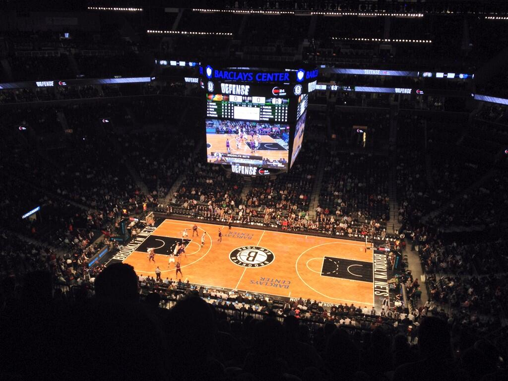 Seat view from Section 207 at the Barclays Center, home of the Brooklyn Nets