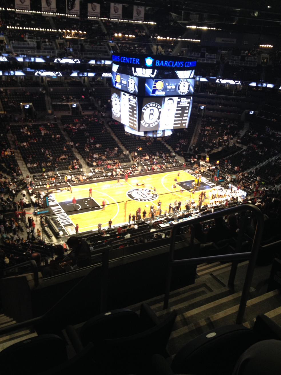Seat view from Section 211 at the Barclays Center, home of the Brooklyn Nets
