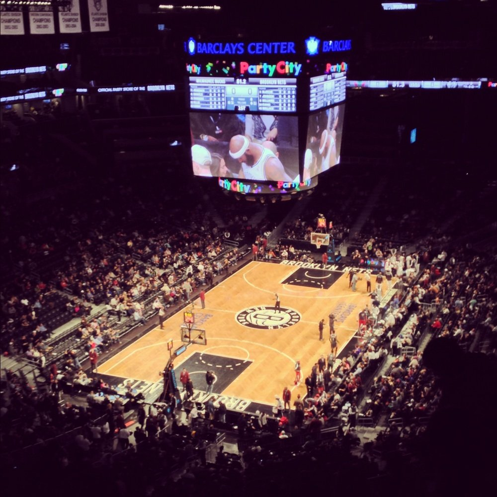Seat view from Section 213 at the Barclays Center, home of the Brooklyn Nets