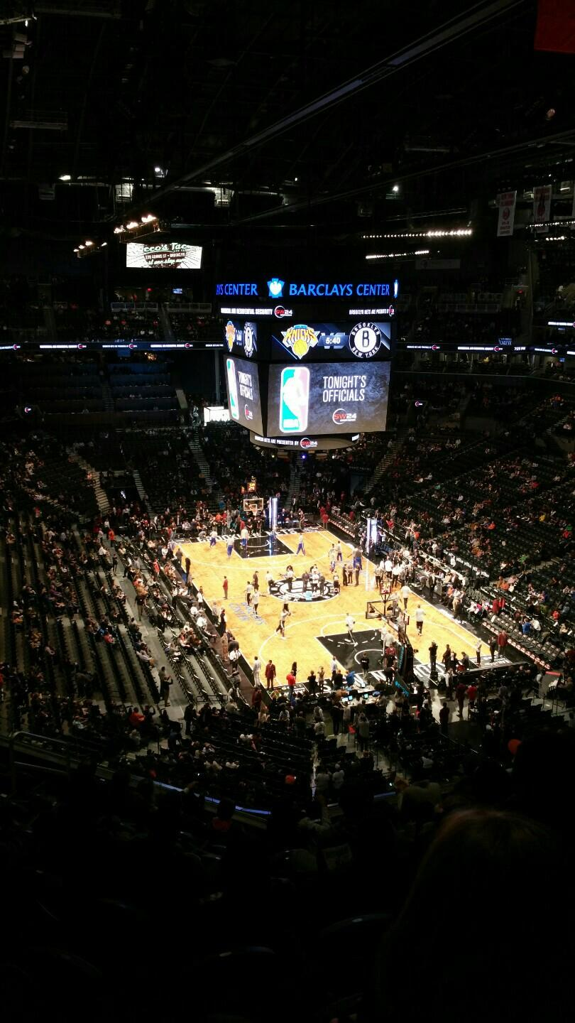 Seat view from Section 218 at the Barclays Center, home of the Brooklyn Nets