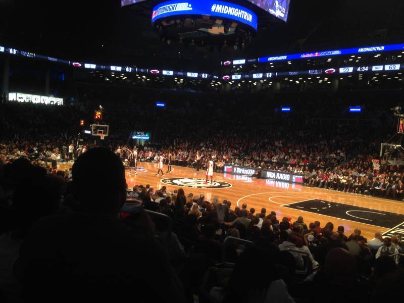 Seat view from Section 22 at the Barclays Center, home of the Brooklyn Nets
