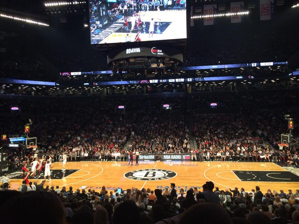 Seat view from Section 24 at the Barclays Center, home of the Brooklyn Nets