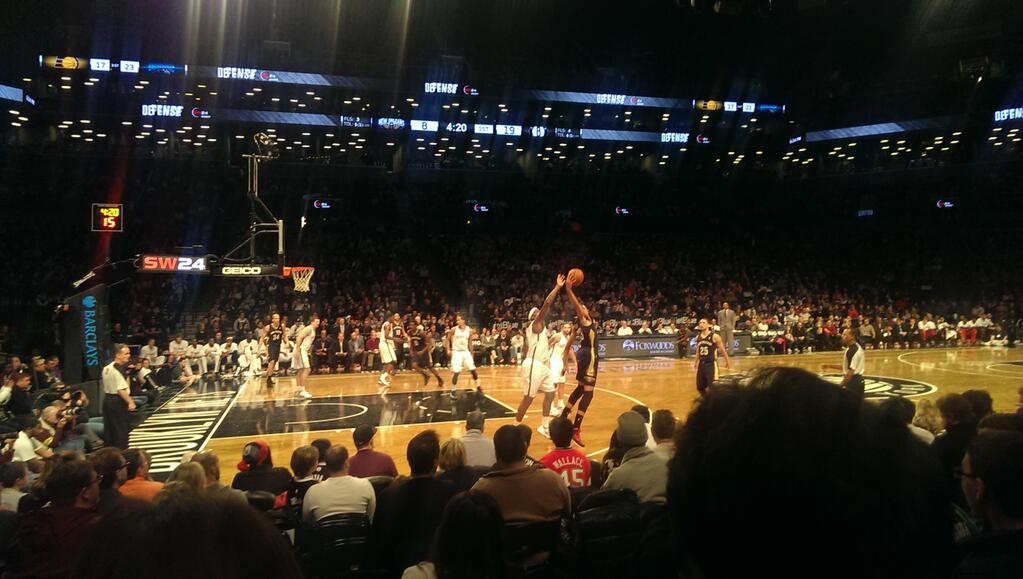 Seat view from Section 25 at the Barclays Center, home of the Brooklyn Nets