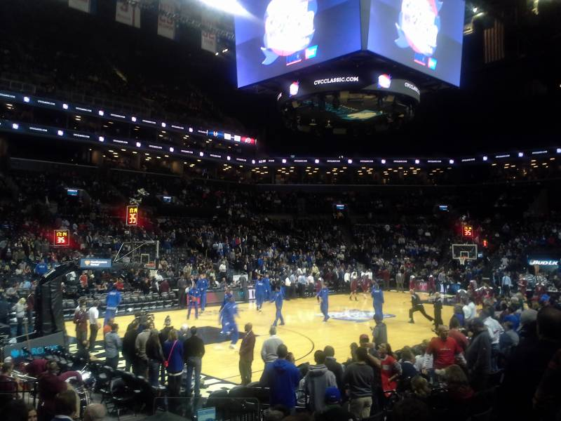 Seat view from Section 28 at the Barclays Center, home of the Brooklyn Nets