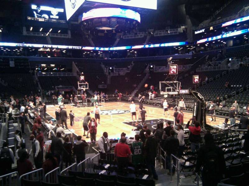 Seat view from Section 3 at the Barclays Center, home of the Brooklyn Nets