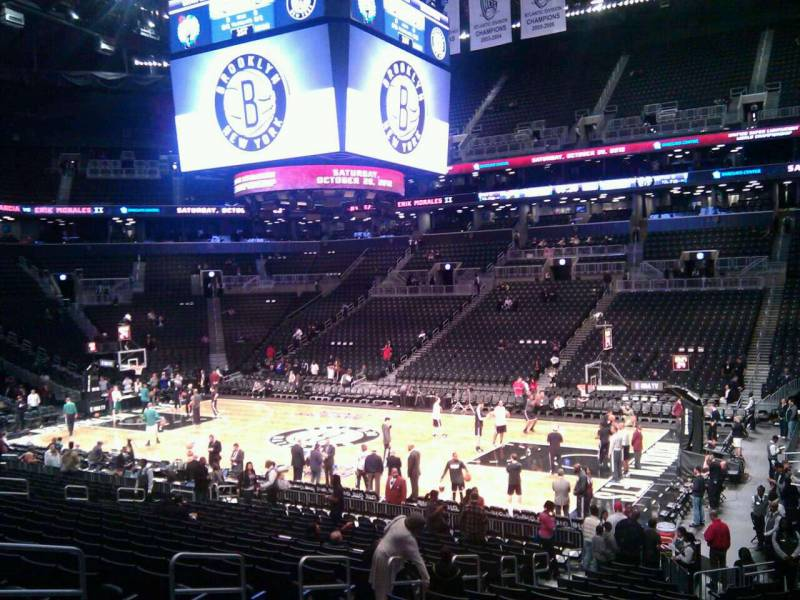 Seat view from Section 6 at the Barclays Center, home of the Brooklyn Nets