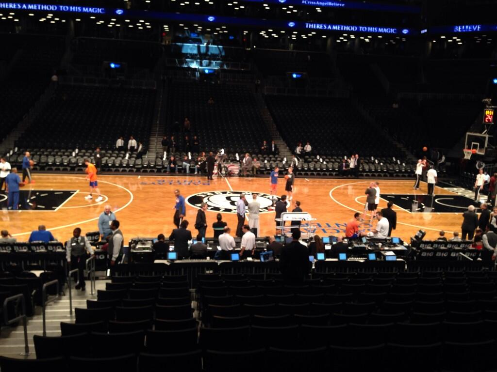 Seat view from Section 8 at the Barclays Center, home of the Brooklyn Nets