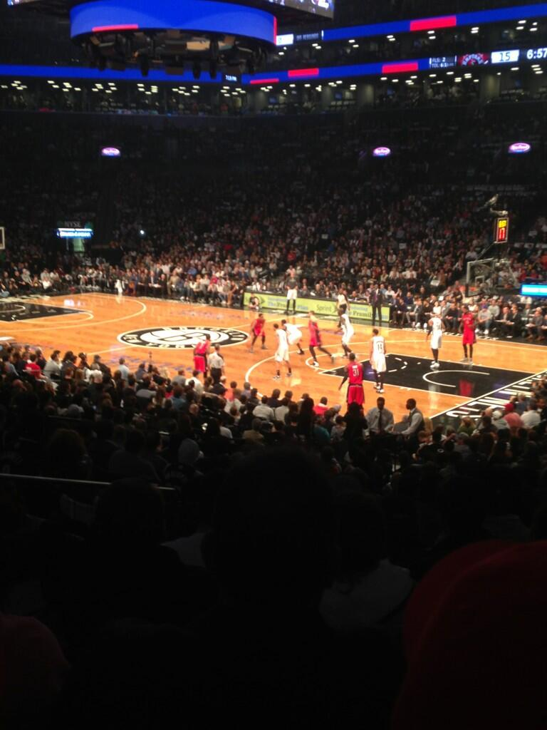 Seat view from Section 20 at the Barclays Center, home of the Brooklyn Nets