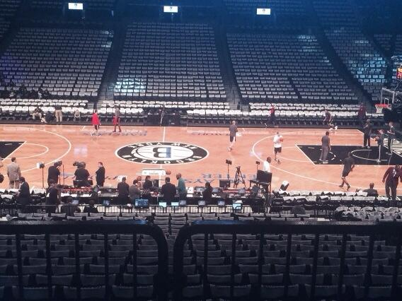 Seat view from Section 108 at the Barclays Center, home of the Brooklyn Nets
