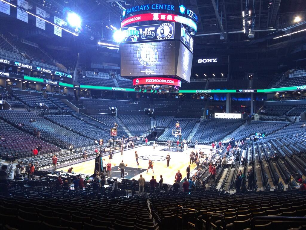 Seat view from Section 15 at the Barclays Center, home of the Brooklyn Nets