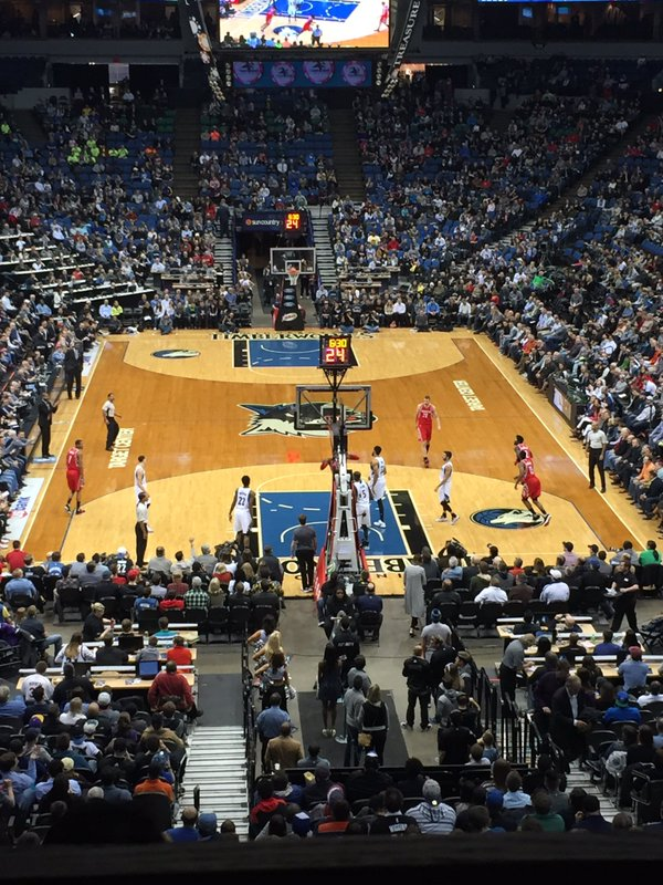 Target Center, Home of the Minnesota Timberwolves