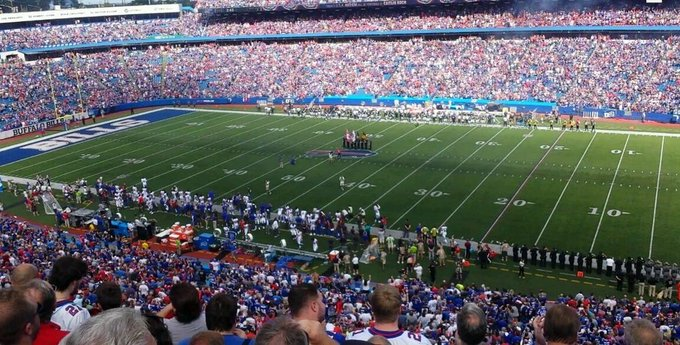 Photo taken from the upper level seats at New Era Field during a Buffalo Bills home game.