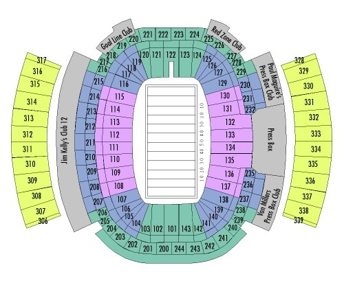 New Era Field Seating Chart, Buffalo Bills