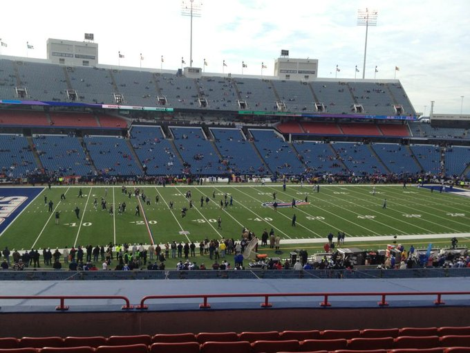 Photo taken from the club seats at New Era Field during a Buffalo Bills home game.