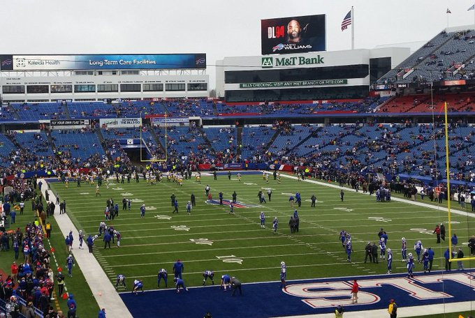 Photo taken from the lower level of New Era Field during a Buffalo Bills home game.