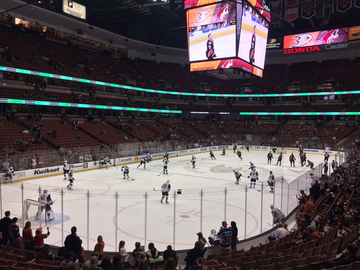 The Honda Center, Home of the Anaheim Ducks