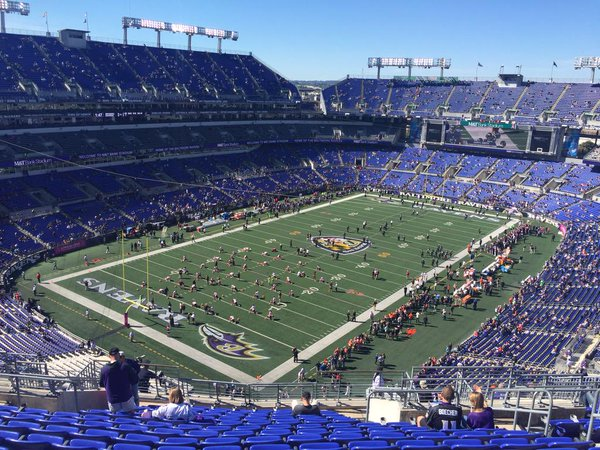 M&T Bank Stadium, home of the Baltimore Ravens.