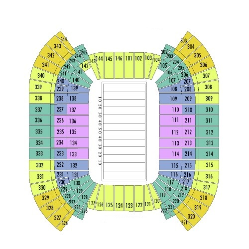 Nissan Stadium Seating Chart, Tennessee Titans