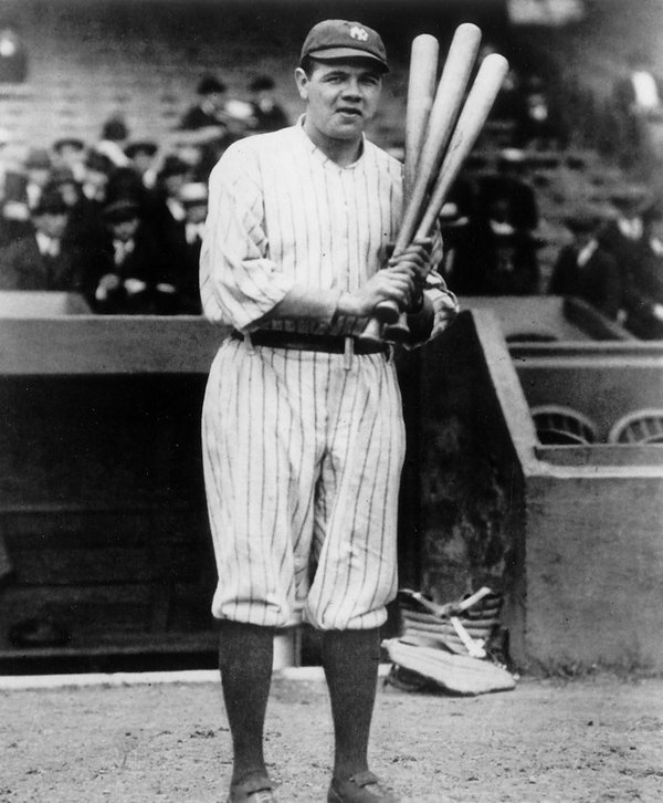 Photo of Herman Babe Ruth of the New York Yankees.
