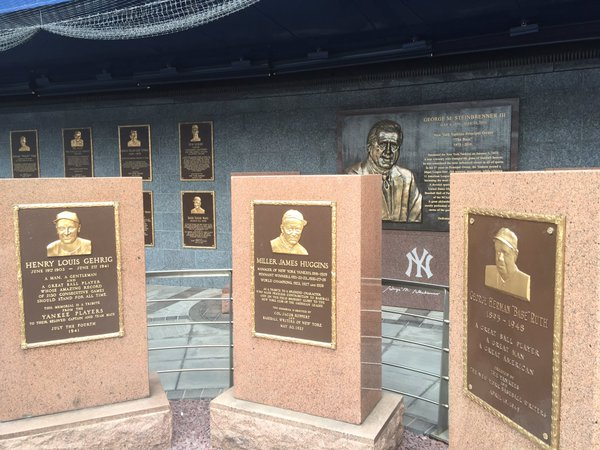 Second photo of Monument Park in Old Yankee Stadium.