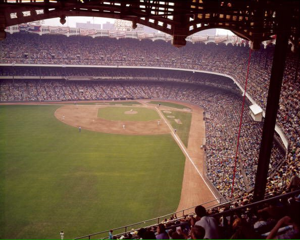 Photo of one of the last rows at old Yankee Stadium.