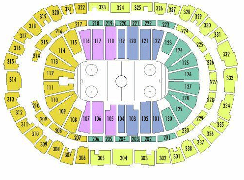 PNC Arena Seating Chart, Carolina Hurricanes