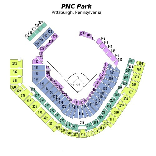 PNC Park Seating Chart, Pittsburgh Pirates