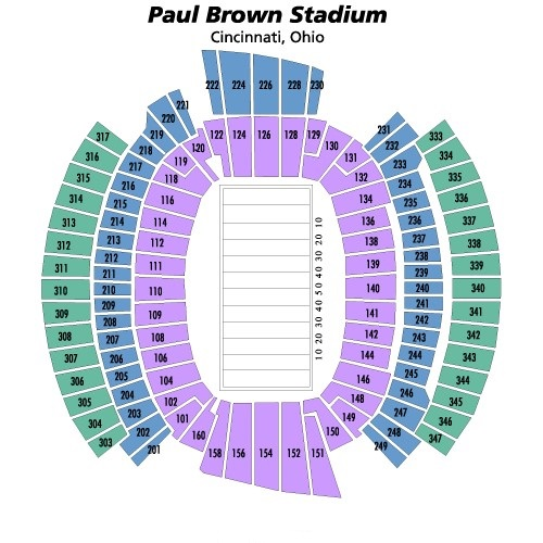 Paul Brown Stadium Seating Chart, Cincinnati Bengals