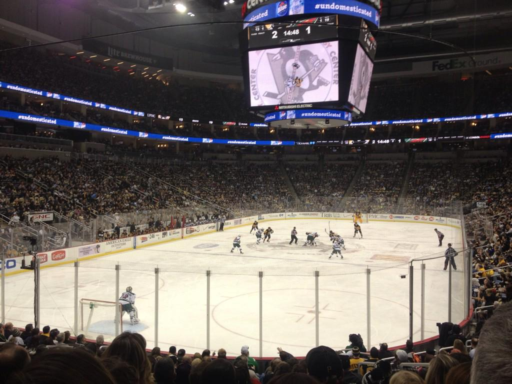 Seat view from section 117 at PPG Paints Arena, home of the Pittsburgh Penguins