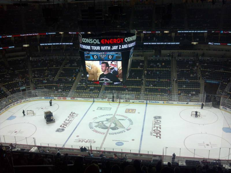 Seat view from section 201 at PPG Paints Arena, home of the Pittsburgh Penguins