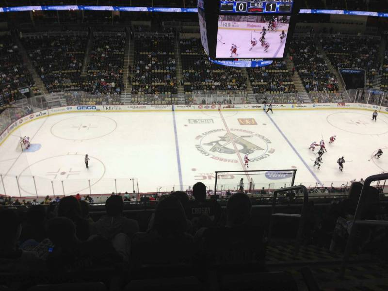 Seat view from section 204 at PPG Paints Arena, home of the Pittsburgh Penguins