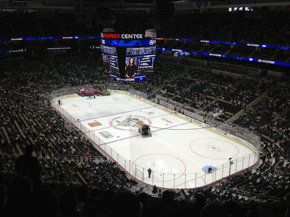 Seat view from section 214 at PPG Paints Arena, home of the Pittsburgh Penguins