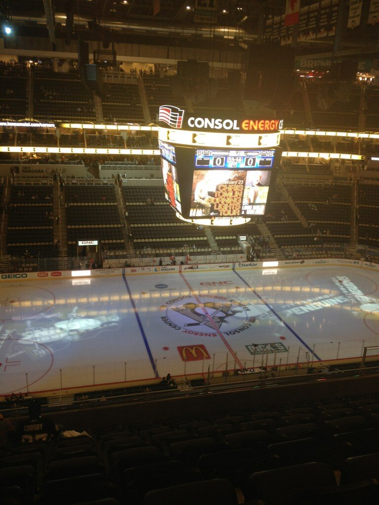 Seat view from section 221 at PPG Paints Arena, home of the Pittsburgh Penguins