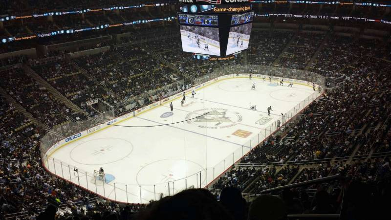 Seat view from section 225 at PPG Paints Arena, home of the Pittsburgh Penguins