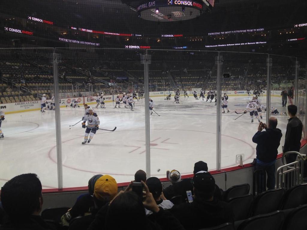 Seat view from section 105 at PPG Paints Arena, home of the Pittsburgh Penguins