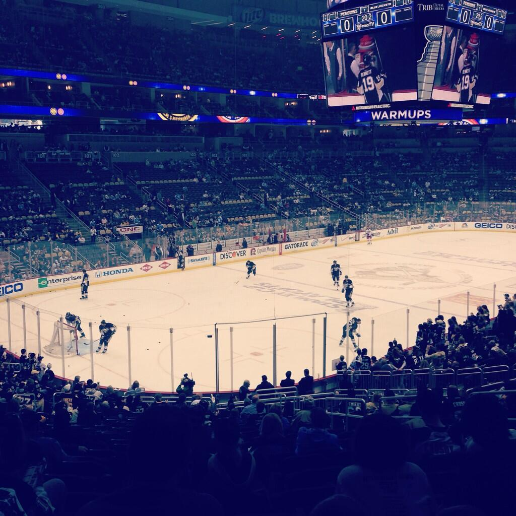 Seat view from section 116 at PPG Paints Arena, home of the Pittsburgh Penguins