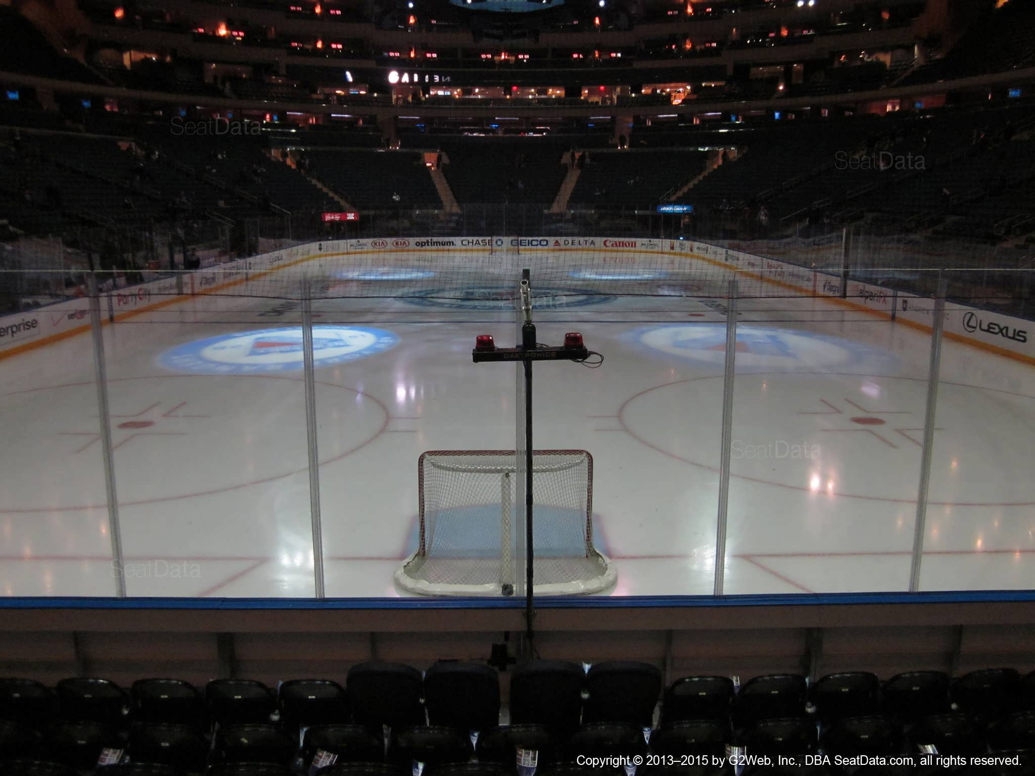 Seat view from section 8 at Madison Square Garden, home of the New York Rangers