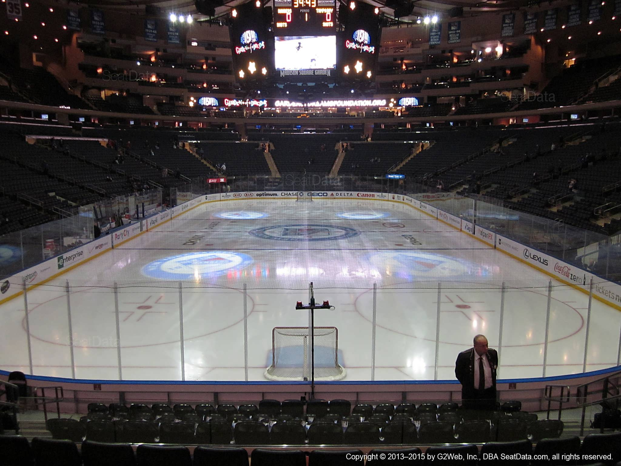 Seat view from section 112 at Madison Square Garden, home of the New York Rangers