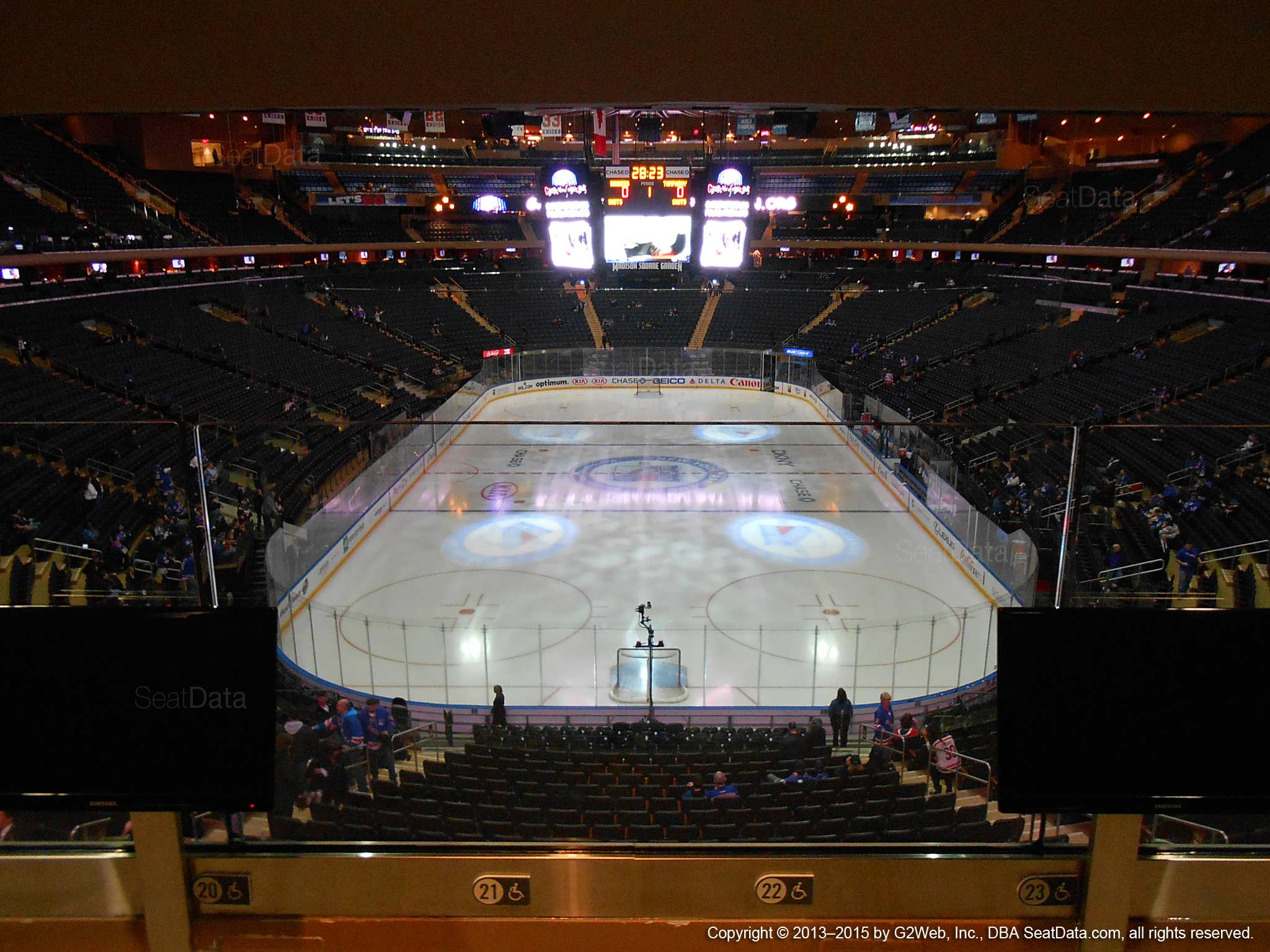 Seat view from section 204 at Madison Square Garden, home of the New York Rangers