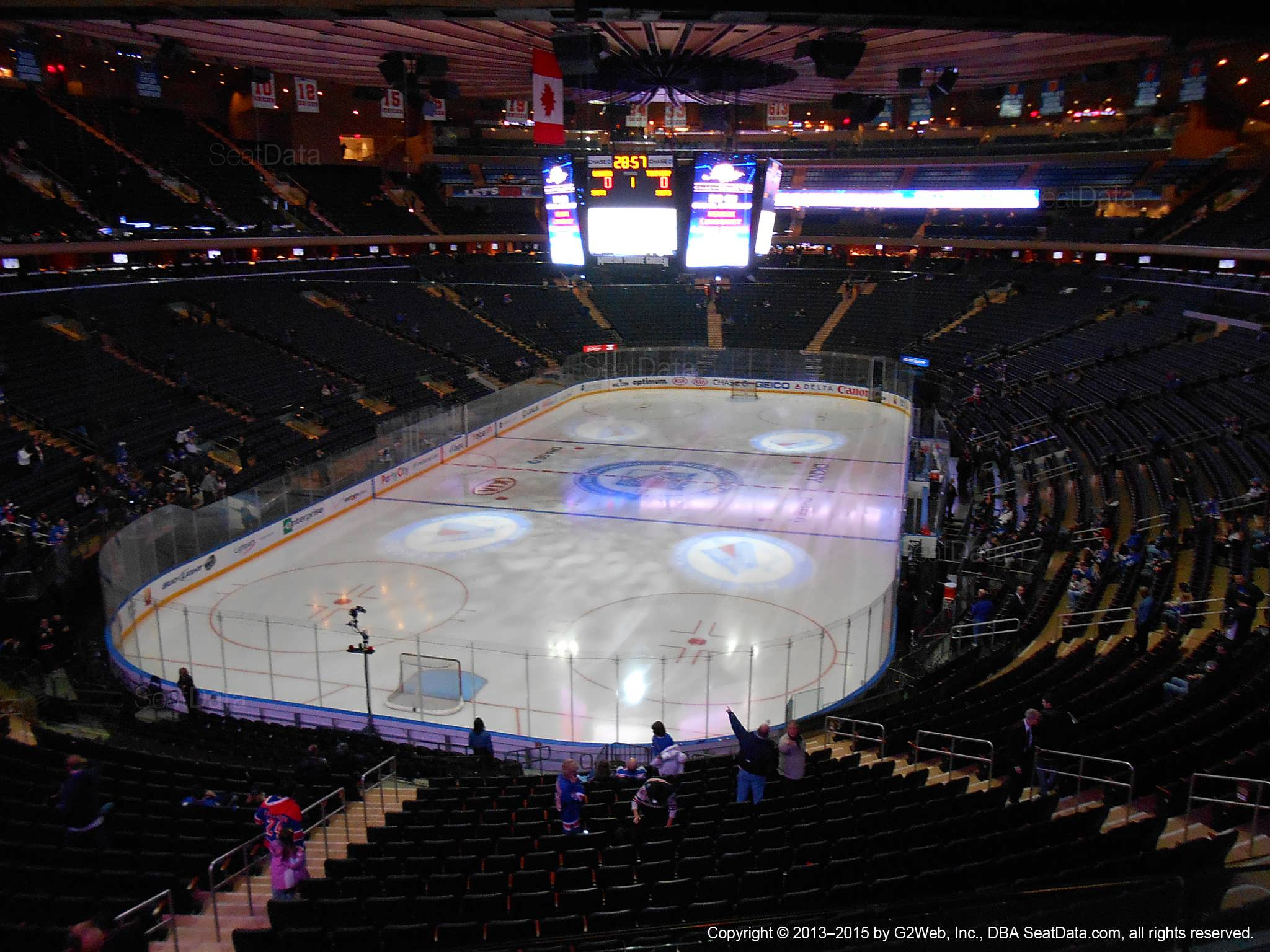 Seat view from section 205 at Madison Square Garden, home of the New York Rangers