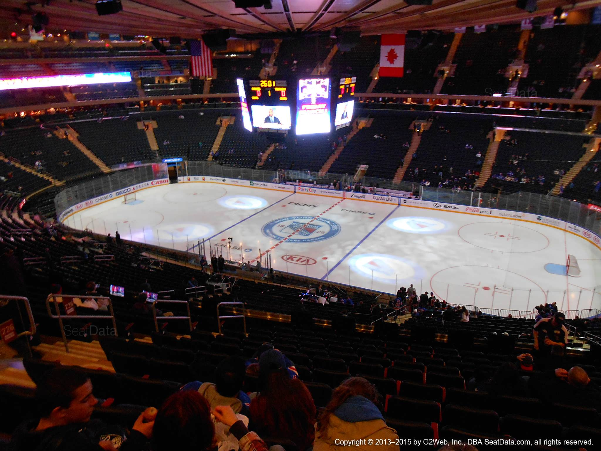 Seat view from section 226 at Madison Square Garden, home of the New York Rangers