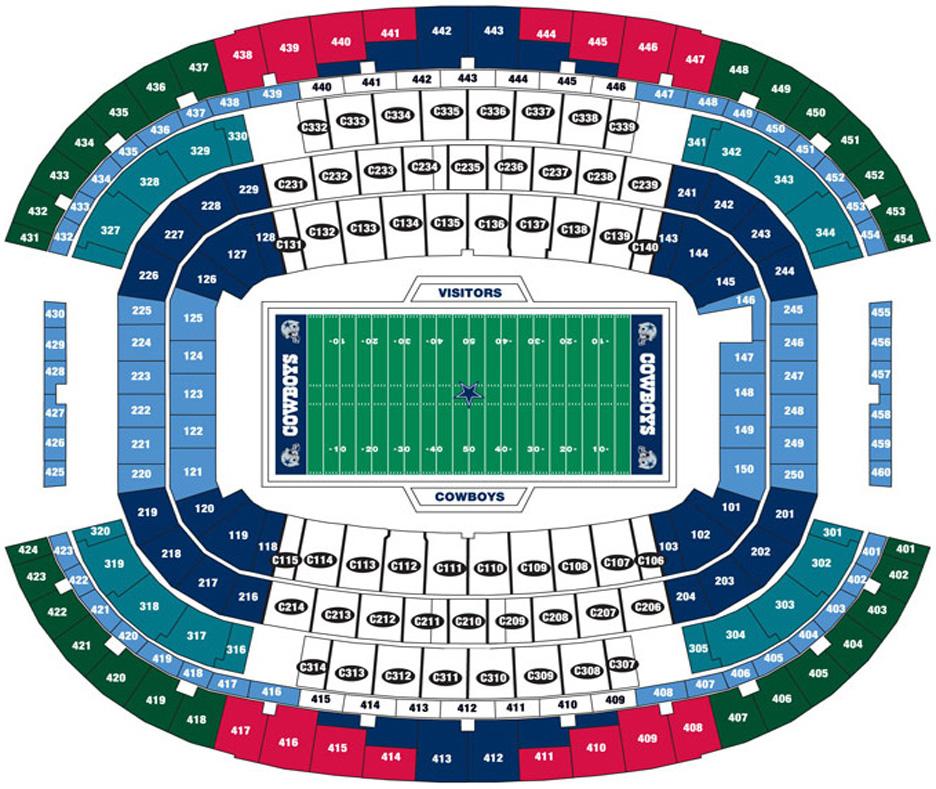 Breakdown Of The At U0026t Stadium Seating Chart