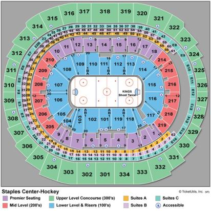 Staples Center Hockey Seating Chart - Los Angeles Kings