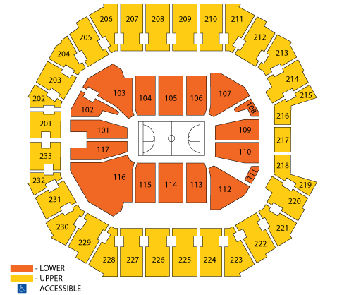 Spectrum Center Seating Chart, Charlotte Hornets