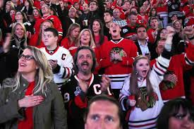 Chicago Blackhawks Fans at the United Center